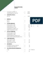 Foundation Design Sheet