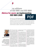 Advice for Users on ISO9001;2008
