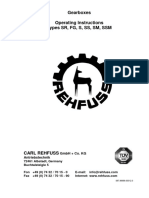 REHFUSS Gearboxes - Operating Instructions