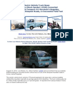 Electric Vehicles Truck Conversion