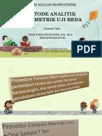Uji Beda (Analitik Parametrik)