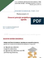 Predavanje Br.6-UAK - Оsnоvni Principi Prојеktоvаnjа Zidаnih Zgrаdа