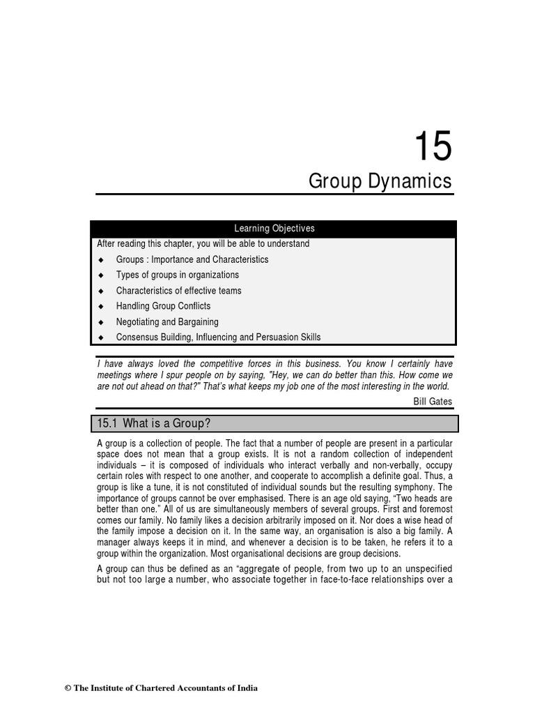15 Group Dynamics pdf   Consensus Decision Making   Negotiation