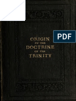A History of the Doctrine of Trinity in Christian Church