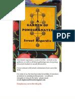 7402818 Regardie Israel a Garden of Pomegranates