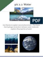 2.2 Presentation Water