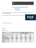 Real Estate Industry Awards Pay Guide
