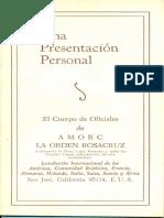 Una Presentacion Personal - El Cuerpo de Oficiales de AMORC.pdf