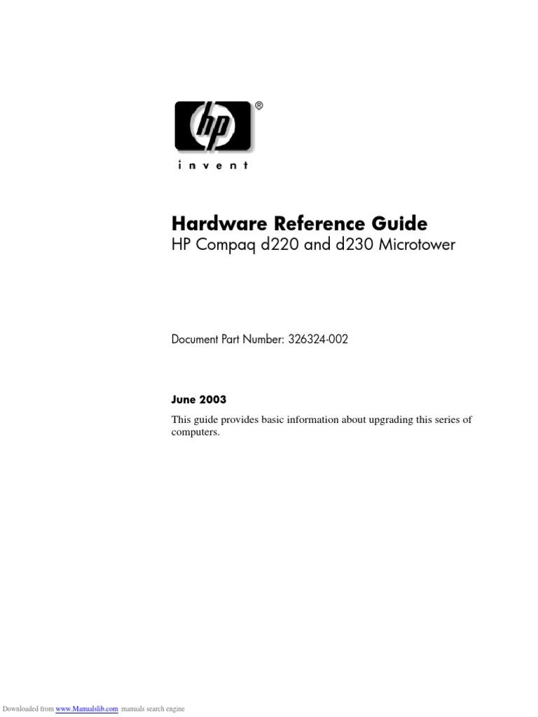 D220 ETHERNET MT CONTROLEUR TÉLÉCHARGER HP COMPAQ