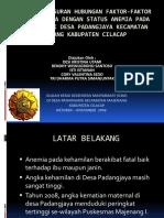 HASIL PENELUSURAN FAKTOR-FAKTOR YANG MEMPENGARUHI ANEMIA PADA IBU.ppt