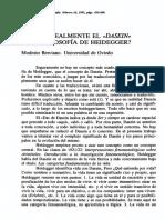 [ BERCIANO, M. ] --- QUÉ ES REALMENTE EL 'DASEIN' EN LA FILOSOFÍA DE HEIDEGGER --ANP-REF-++.pdf