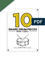 10 Snare Drum Pieces - Book 1 - Level 1