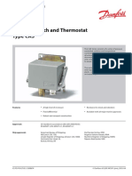 Danfoss Cas Temperature Switches
