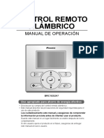 Manual Termostato Aire Acondicionado Daikin