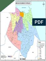 Mapa Regionais Fortaleza