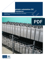 Install and Maintain Substation DC Systems