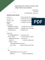 Pir -Delay Report