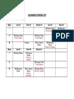 Calendarios Pruebas Sep
