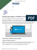 10 Dicas Para Deixar o Windows 10 Mais Rápido