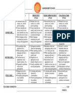 positive participation rubric updated