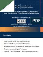 Curso Avançado de Governança Corporativa Para Membros Do Conselho de Administração