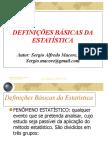 Definições Básicas Da Estatística