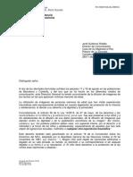 Carta de la Generalitat a la Casa del Rey