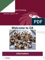 g5 meet the teacher night 2017
