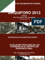 Evolucion de Viviendas Barranco