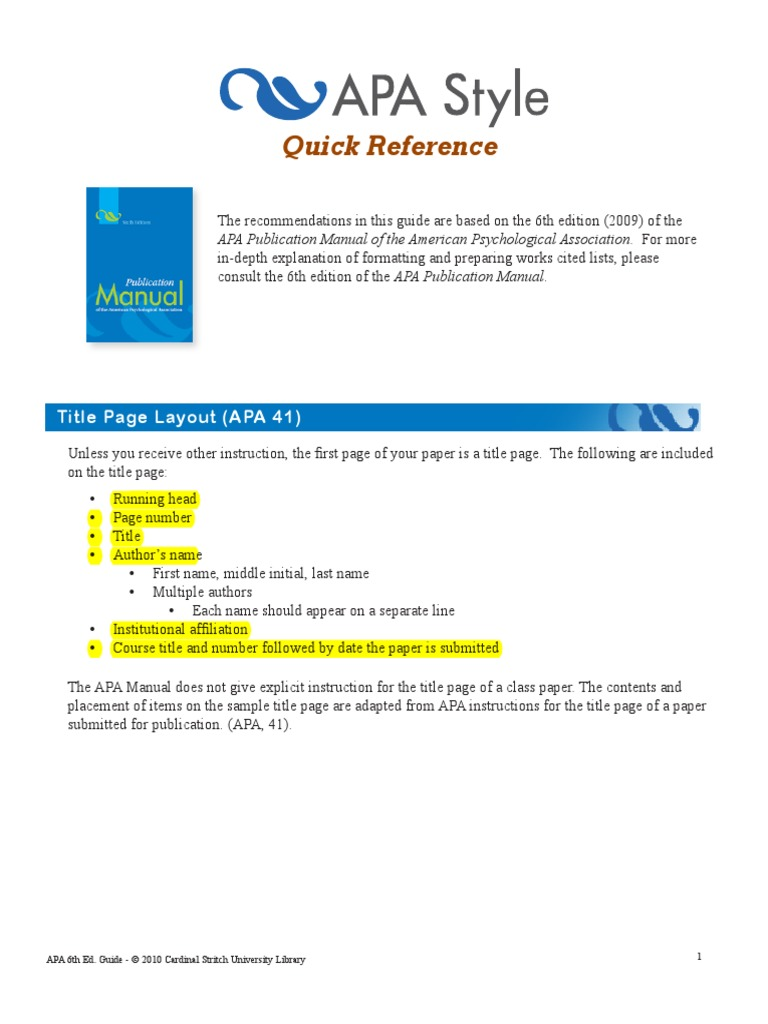 apa style guide pdf digital object identifier thesis