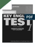 Cambridge KET 1 Book
