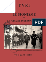 Yvri - Le Sionisme Et La Juiverie Internationale