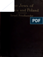 The Jews of Russia and Poland; A Bird's-eye View of Their History and Culture - Israel Friedlaender