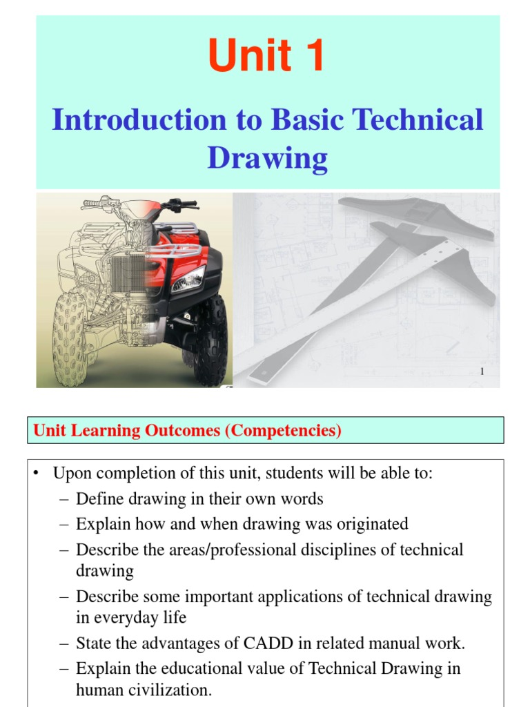 Unit 1  Introduction to Basci Technical Drawing | Computer