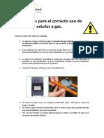 Consejos Para El Correcto Uso de Estufas a Gas