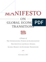 MANIFESTO ON GLOBAL ECONOMIC TRANSITIONS