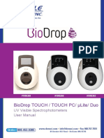 Denville BioDrop Spectrophotometers User Manual V2