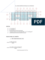 Diseño de Losas Alivianadas Bidireccional