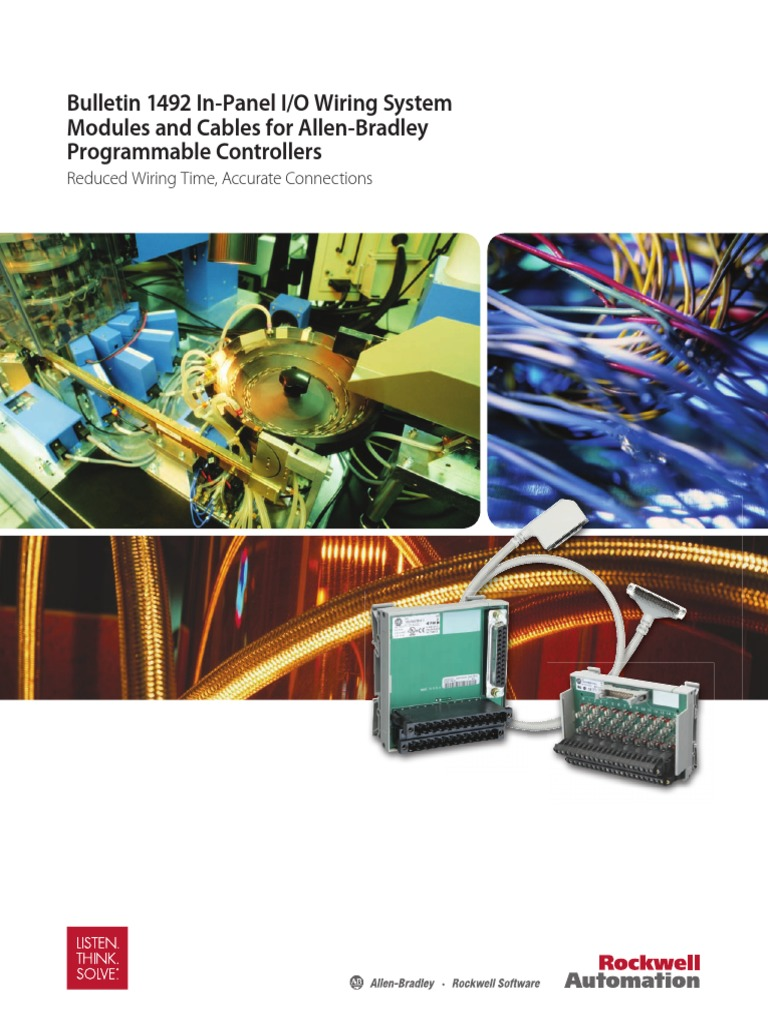 Bulletin 1492 In Panel Io Wiring System Abpdf Electrical Ifm Block Connector Programmable Logic Controller