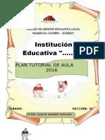 Modelo de Plan Tutorial de Aula 2017