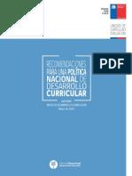 Politica Nacional de Desarrollo Curricular