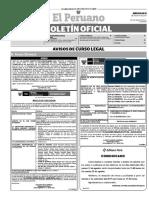 Diario Oficial El Peruano, Edición 9796. 23 de agosto de 2017