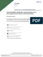 JUAN BAUTISTA FUENTES - Intencionalidad, Significado y Representación en La Encrucijada de Las Ciencias Sociales
