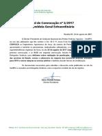 Edital de Convocação - Assembleia Geral 28-8-2017