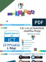 Application of ICT - Grade 10