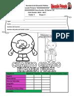 examen final 4° 2017