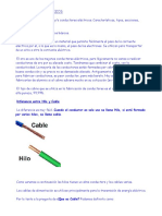 tipología de cables eléctricos