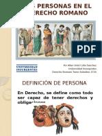 Presentación Personas Derecho Romano