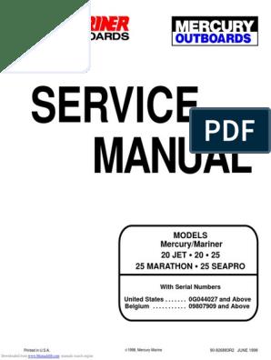 Mercury 20 25 Marathon Seapro Service Manual | Cylinder (Engine