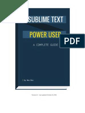 Sublime Text Power User pdf